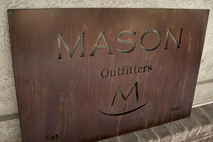 Laser Cut Metal Business Signs - Superior Laser Cutting