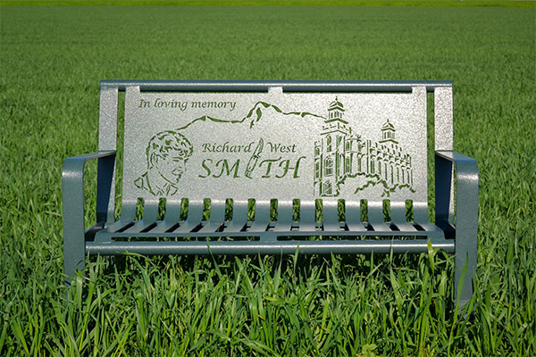 Custom Memorial Benches Superior Laser Cutting