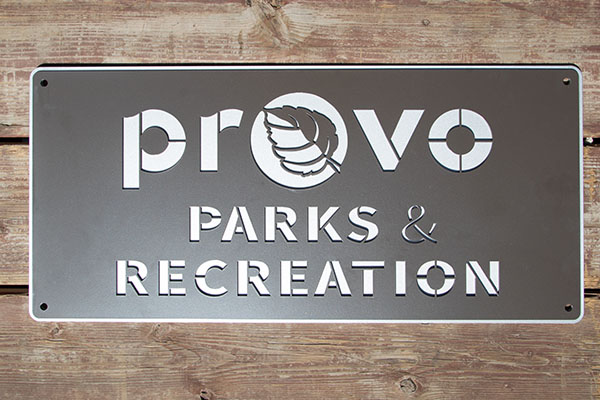 Indented Laser Cut Metal Signs - Superior Laser Cutting
