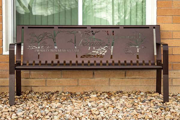 Custom Metal Memorial Benches