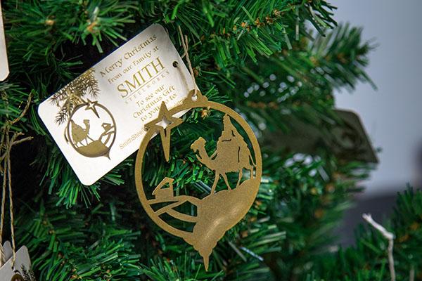 Custom Metal Nativity Ornaments