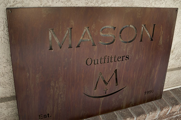 Laser Cut Metal Signs >> Rustic Metal Finish Signs Superior Laser Cutting